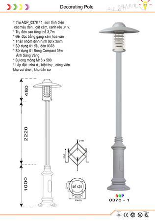 Đèn trụ công viên 0378 - 1