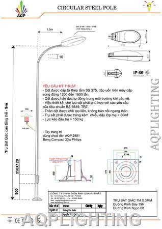 Trụ đèn đường 6m