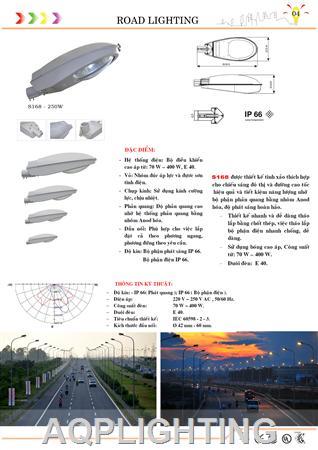 Đèn đường S168 - 250w