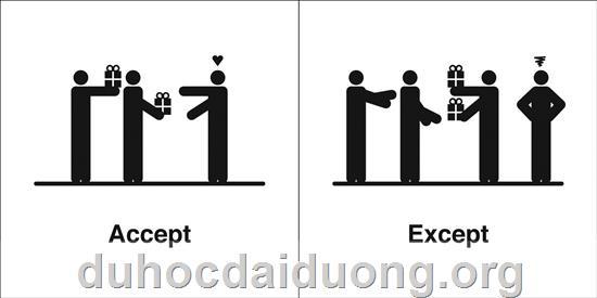 Except or Accept? - Danh sách các cặp từ tiếng Anh rất dễ bị nhầm lẫn